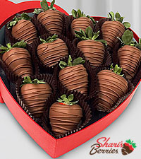 Be Still My Heart Valentine Belgian Chocolate Covered Strawberries