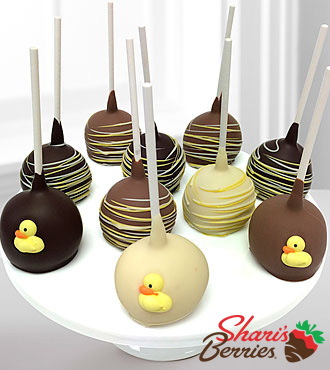 Shari 's Berries™ Limited Edition Chocolate Dipped Welcome Baby Cake Pops
