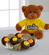 Shari 's Berries™ Limited Edition Chocolate Dipped Smile Sensation Oreo ® Cookies & Bear