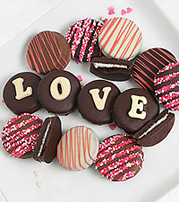 Belgian Chocolate Dipped Love Oreo ® Cookie Gram