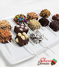 Shari 's Berries™ Limited Edition Chocolate Dipped Ultimate Crispy Pops