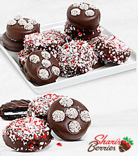 Belgian Chocolate Dipped Holiday Peppermint Oreo ® Cookies