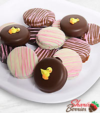 Belgian Chocolate Dipped Baby Girl Celebration Oreo ® Cookies