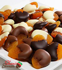 Belgian Chocolate Dipped Apricots - 1 pound