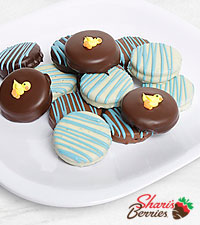 Belgian Chocolate Dipped Baby Boy Celebration Oreo ® Cookies