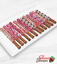 Salty & Sweet Valentine 's Day Belgian Chocolate Covered Pretzels