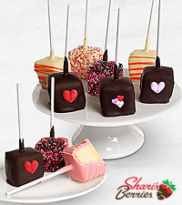 Call Me Cupid Valentine 's Day Belgian Chocolate Covered Cheesecake Pops