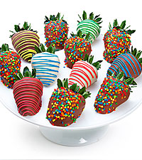 Birthday Belgian Chocolate Covered Strawberries