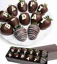 HAPPY B-DAY Belgian Chocolate Covered BERRY-GRAM ®