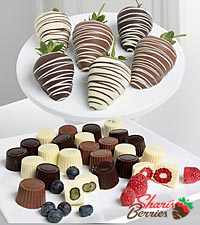Golden Edibles&trade; Belgian Chocolate Covered Assorted Berries - 18-piece