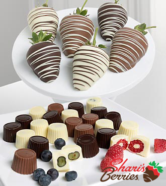 Golden Edibles™ Belgian Chocolate Covered Assorted Berries - 18-piece