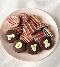 LOVE Belgian Chocolate Covered Sandwich Cookies