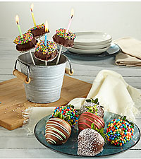 COMBO - Birthday 'BDAY' BERRY-GRAM ® & Brownie Pops