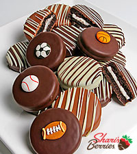 Belgian Chocolate Dipped Sports Fan Oreo ® Cookies - 12 piece