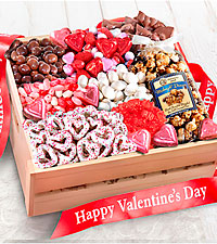 Sweet Them Off Their Feet Valentine 's Gourmet Basket - GOOD