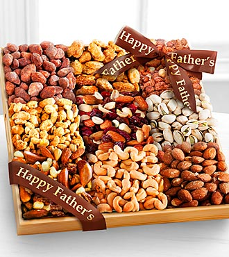 Happy Father's Day Gourmet Nut Tray