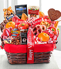 Lovely Day Valentine Gourmet Gift Basket - Best