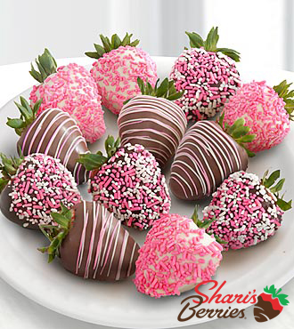 Chocolate Dip Delights? A Baby Girl! Real Chocolate Covered Strawberries