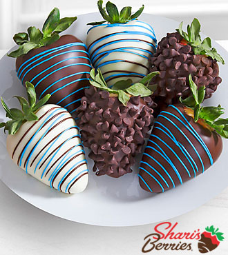 Chocolate Dip Delights Just For You Dad Father's Day Chocolate Covered Strawberries - 6-piece