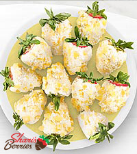 Chocolate Dipped Pina Colada Strawberries - 12-piece