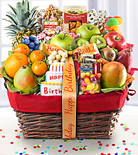Happy Birthday Gourmet Fruit Basket - BEST
