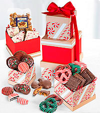 For the Love of Chocolate Happy Holidays Gourmet Gift Tower
