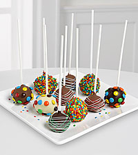 Golden Edibles&trade; Birthday Belgian Chocolate-Dipped Cake Pops