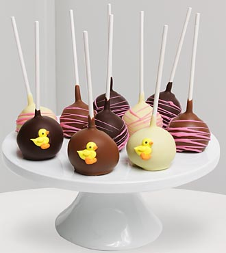Golden Edibles™ Baby Girl Belgian Chocolate Dipped Cake Pops