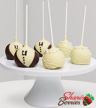Golden Edibles Wedding Day Celebration Belgian Chocolate Dipped Cake Pops