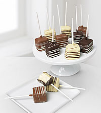 Golden Edibles&trade; Belgian Chocolate Dipped Cheesecake Pops