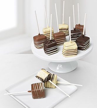 Chocolate Dip Delights™ Real Chocolate Dipped Cheesecake Pops