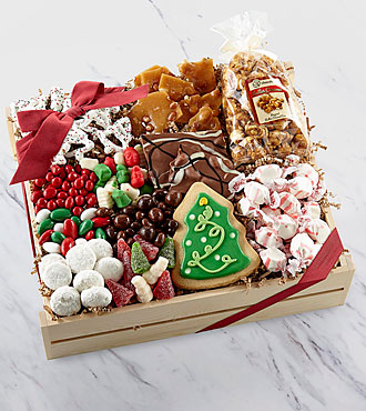 Buy best holiday gift baskets - Holiday Delights Chocolate & Sweets Gourmet Gift Basket - BEST