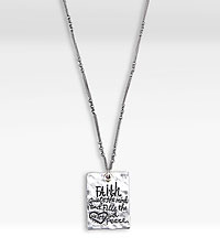 Poetic Threads Silver Message Pendant by Lori Siebert