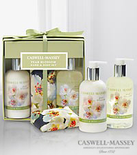 Caswell Massey Pear Blossom Hand and Body Gift Set