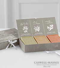 Caswell Massey Botanical Soap Gift Set