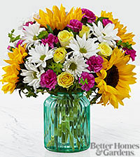 The FTD ® Sunlit Meadows Bouquet by Better Homes and Gardens ® - VASE INCLUDED