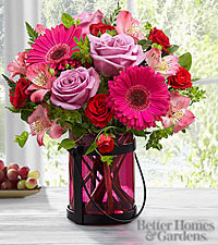 The FTD ® Pink Exuberance Bouquet by Better Homes and Gardens ® - VASE INCLUDED