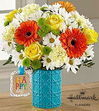 The FTD ® Happy Day Birthday™ Bouquet by Hallmark - VASE INCLUDED
