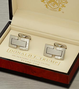 Donald Trump Brushed Rectangle Cufflinks