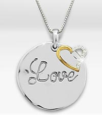It's All About Love Created White Sapphire Sterling Silver Heart Pendant