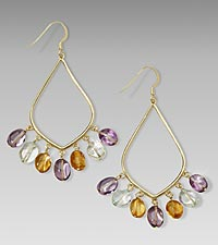 14kt Gold over Sterling Silver Chandelier Earrings