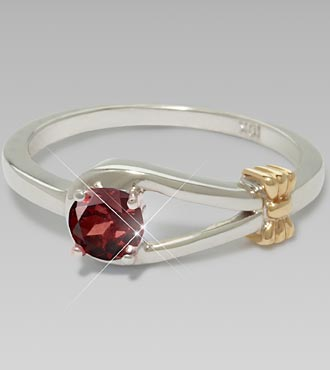 June Birthstone Genuine Rhodolite Sterling Silver Ring