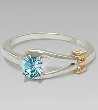 December Birthstone Genuine Blue Topaz Sterling Silver Ring