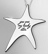 You Are My Lucky Star Sterling Silver Pendant