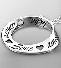 Love in Ten Languages Sterling Silver Pendant