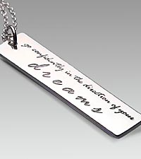 Go Confidently in the Direction of Your Dreams Sterling Silver Pendant