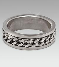 Stainless Steel Link Spinner Ring