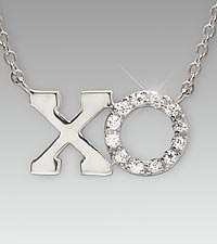 Kisses & Hugs XO Sterling Silver Pendant