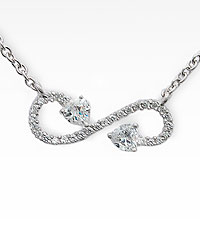 Cubic Zirconia Infinity Necklace