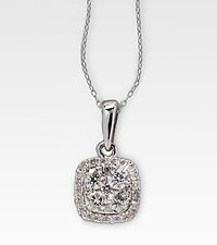 1/2 cttw Diamond 14kt White Gold Pendant
